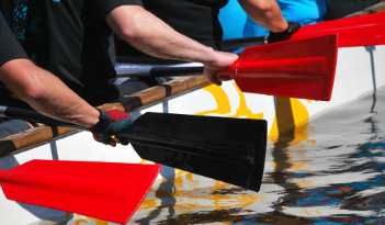 Drachenboot Team-Event in Ulm